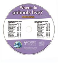 Where do animals live? - CD Only - CD - Audio