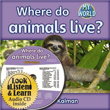 Where do animals live? - CD + HC Book - Package - Mixed Media